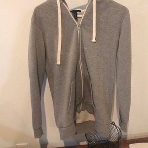 forever 21 gray zip up hoodie!!